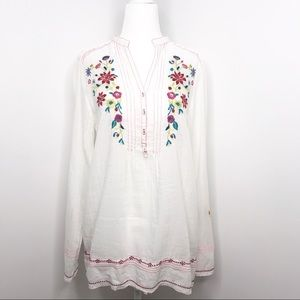 3J Workshop | White Embroidered Tunic Popover